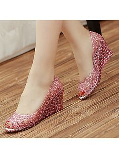 Cheap heel sandals, Buy Quality wedge heel sandals directly from China jelly shoes Suppliers: Womens New Peep Toe Jelly Shoes Glitter Sequins Hollow Out Wedge Heels Sandals Peep Toe Wedges, Wedge Sandals, Cheap Heels, Jelly Shoes, Glitter Shoes, Fashion Sandals, Casual Sneakers, Jeans, Loafer Flats