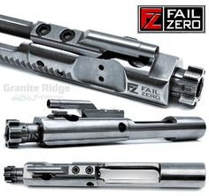 Special production run with laser etched FailZero logo on both the bolt carrier and bolt.  This FailZero Bolt Carrier Group (BCG) comes fully assembled and ready to drop into most mil spec M16, M4 or AR15 upper receivers.