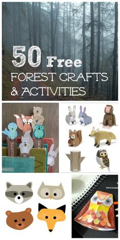 TONS of paper crafts, learning activities, coloring sheets with forest animals! Go explore the woods!