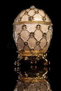 Faberge egg. Isolated on black.