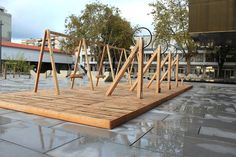 Swing is a Low Tech Energy-Generating Public Art Installation in Portugal