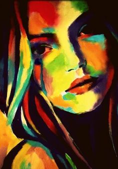 """Cherry lips"" Painting by Helenka Abstract Portrait, Portrait Art, Murciano Art, Lips Painting, Music Painting, Tableau Pop Art, Frida Art, Arte Pop, Pastel Art"