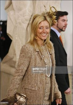 Christening of Prince Christian of Denmark in Copenhagen, Denmark On January 21, 2006-Arrival of Marie Chantal of Greece at the Drabant hall.  (Photo by LEBON/Gamma-Rapho via Getty Images)
