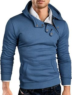 da105d0b99c Grin Bear Slim Fit Hoodie with asymsetrical zip