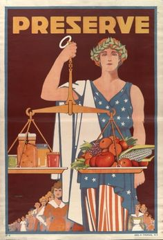 Preserve! A less-often seen version of the iconic poster by Carter Housh, who often did illustrations for McCall's Magazine. US WWI