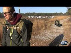 Military Robot 2013 DARPA LS3 Automatically Follows Soldiers - YouTube