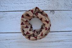 Red Triangles Toddler and Child Infinity Scarf