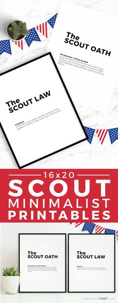 Our minimalist Boy Scout Oath and Law Printables will make the perfect accessory to your next court of honor or pack meeting!