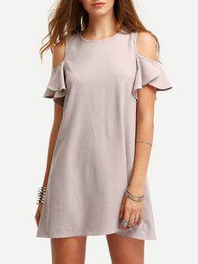 nude dresses, summer dresses, open shoulder dresses, ruffle dresses, shift dresses - Lyfie