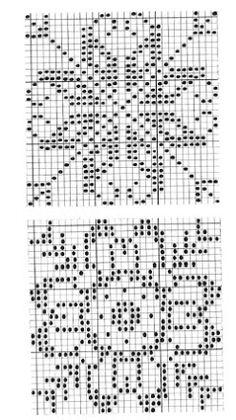 @nika Crochet Motif Patterns, Fair Isle Knitting Patterns, Filet Crochet Charts, Knitting Charts, Crochet Squares, Crochet Stitches, Cross Stitch Borders, Cross Stitch Rose, Cross Stitch Charts