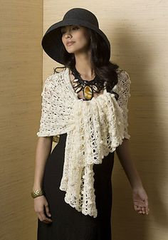 Broomstick Lace & Bobble Shawl (I seriously thought this was a mannequin!)