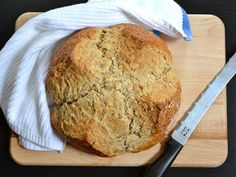 A deliciously nutty Brown Butter Soda Bread for St. Patrick's Day - BudgetBytes.com #Irish #StPatricks #vegetarian #bread