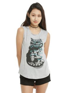 Disney Alice In Wonderland Different Reality Girls Muscle Top, BLACK