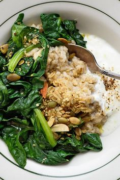 Savory Oatmeal With Greens and Yogurt Recipe - NYT Cooking