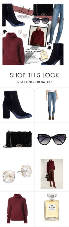 """Velvet Crush"" by daniellewiebe ❤ liked on Polyvore featuring Gianvito Rossi, Calvin Klein, Rebecca Minkoff, La Perla, Kate Spade, BY. Bonnie Young, Chanel and Topshop"