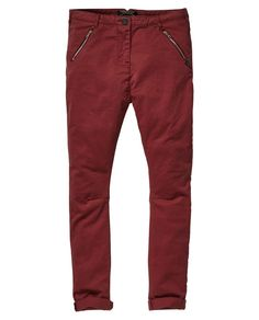 Relaxed Fit Low Crotch Tapered Leg Pants - Scotch & Soda