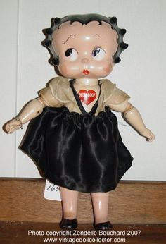 Betty Boop was made in a few different versions by Cameo. Some had her voluptuous figure and high heeled shoes; others had a child body like that of Margie and Pinkie.