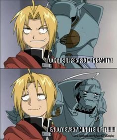 Fullmetal Alchemist. I only repinned this because Ed's face is priceless.