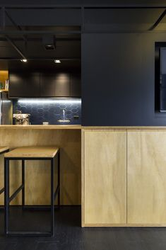 Image 19 of 38 from gallery of RE Apartment / Oficina Conceito Arquitetura. Photograph by Marcelo Donadussi Credenza, Shelves, Flooring, Cabinet, Living Room, Storage, Modern, Furniture, Kitchens