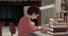 Shared by Find images and videos about anime, writing and studio ghibli on We Heart It - the app to get lost in what you love. Studio Ghibli Art, Studio Ghibli Movies, Aesthetic Anime, Aesthetic Art, Manga Anime, Anime Art, Study Pictures, Anime Scenery, Hayao Miyazaki