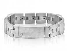 See the image of Mens Stainless Steel Bracelet Inori Identity - We Get Personal UK. You can engrave this bracelet with your own text. Need to read our size guide, before ordering an engraved bracelet. Engraved Bracelet, Personalized Bracelets, Easy To Use, Stainless Steel Bracelet, Bracelets For Men, Identity, Bangles, Image, Jewelry