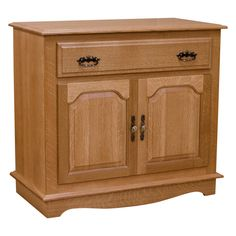 Another simple and yet beautiful unit added in our Traditional Furniture Collection. This is made out of solid Quartersawn White Oak and elegantly stained in an OCS 101 finish. In addition, this is proudly made in US with a highly skilled craftsman.   This server has drawer that sits on a full extension glides with a traditional English dovetail joints. It also has one adjustable shelf and does not contain any particle board or veneer. Another great thing about this unit is that it could…