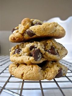 Triple Threat Cookies- chocolate chip oatmeal peanut butter cookies