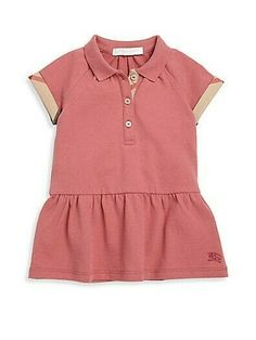 1fe65f4e Burberry Toddler Girl's Mini Calin Drop-Waist Dress- PINK AZALEA (Size 2)  #Burberry