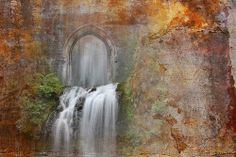 Doorway with waterfall