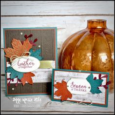 Stampin' Anne - Gather Together Bundle by Stampin' Up!® for the Stampin Friends Blog Hop  #stampinup #handmadecard #stamping #gathertogether #SUholidaycatalog Fall Cards, Holiday Cards, Christmas Cards, Christmas 2019, Christmas Ideas, Halloween Cards, Fall Halloween, Thanksgiving Favors, Wink Of Stella