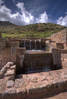 Inca archaeological site, Tipon, Peru