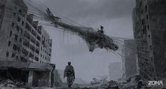 If the new TV series Zona is half as cool, weird, and intriguing as the concept art by Alex Andreev, it will sure be a must watch. Based on a short sci-fi novel by brothers Arkady and Boris Strugatsky, Zona is scheduled to launch in Russia in Alex Andreev, Post Apocalyptic Art, Sci Fi Tv Series, Apocalypse Art, Sci Fi News, Alien Worlds, Environment Concept, Science Fiction Art, Dark Art