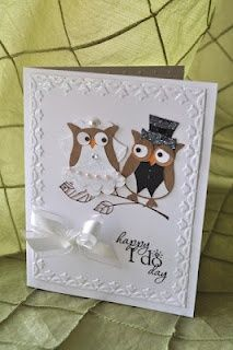 Owl punch wedding card                                                                                                                                                                                 More