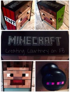 Minecraft painted furniture by Courtney James! #minecraft #minecraftbedroom #minecraftpaintedfurniture #ikeahack