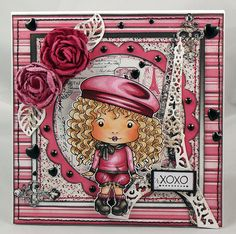 OOAK La La Land 'Beret  Marci' Handmade Card by SWGOriginalDesigns, £4.50