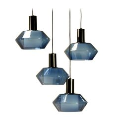 Tapio Wirkkala / Molded Glass and Painted Metal Ceiling Lights / Finland,