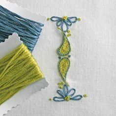 Crewel Embroidery Pattern Monogram DIY pdf I is for instant