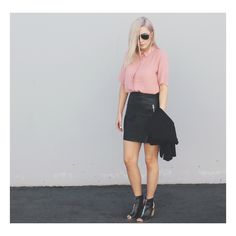 Edgy in Black and Pink
