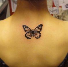Blackwork Butterfly Tattoo Design by Black Fish Tattoo