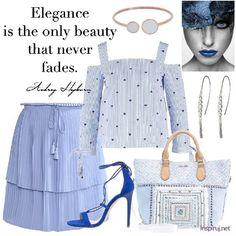 Stylizacje dnia z Inspiruj.net – Niebieskie prążki! - KobietaMag.pl Dark Blue, Navy, Elegant, Hot, Image, Beauty, Fashion, Classy, Moda