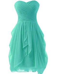 New Arrival Sweetheart Short Cocktail Dress Lace Up Back Chiffon A-Line Prom Dresses