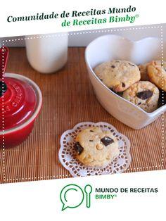 Bolachas com Pepitas de Chocolate (Cookies Americanas) de CarolinaMacedo. Receita Bimby<sup>®</sup> na categoria Bolos e Biscoitos do www.mundodereceitasbimby.com.pt, A Comunidade de Receitas Bimby<sup>®</sup>. Cereal, Muffin, Cookies, Breakfast, Tailgate Desserts, Cakes, Interesting Recipes, Vanilla, Community