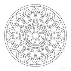 Free coloring mandala