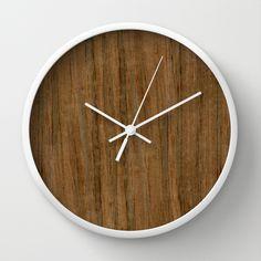 Etomie (Flat Cut) Wood Wall Clock