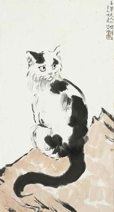 Cat  Xu Beihong, 1941, Expressionism