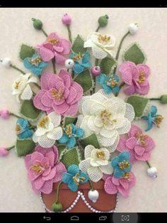 İğne oyası çiçekler alıntı yapanın eline emeğine sağlık