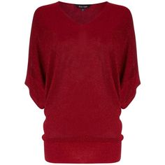 Phase Eight Kareena shimmer knit jumper ($72) ❤ liked on Polyvore featuring tops, sweaters, deep red, sale, metallic top, short jumper, red jumper, red knit sweater and knit jumper