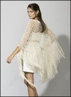 Patrón chal de crochet de lanas Katia: