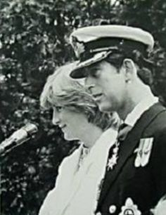 1981-07-25 Diana and Charles visit HMS Mercury, the Royal Navy Signals School at Leydene, Hampshire