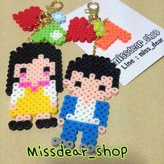 Girl and boy perler beads by missdear_shop